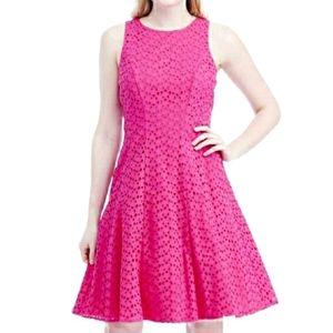 Nwot Liz Claiborne Hot Pink Sleeveless Iolet Dress